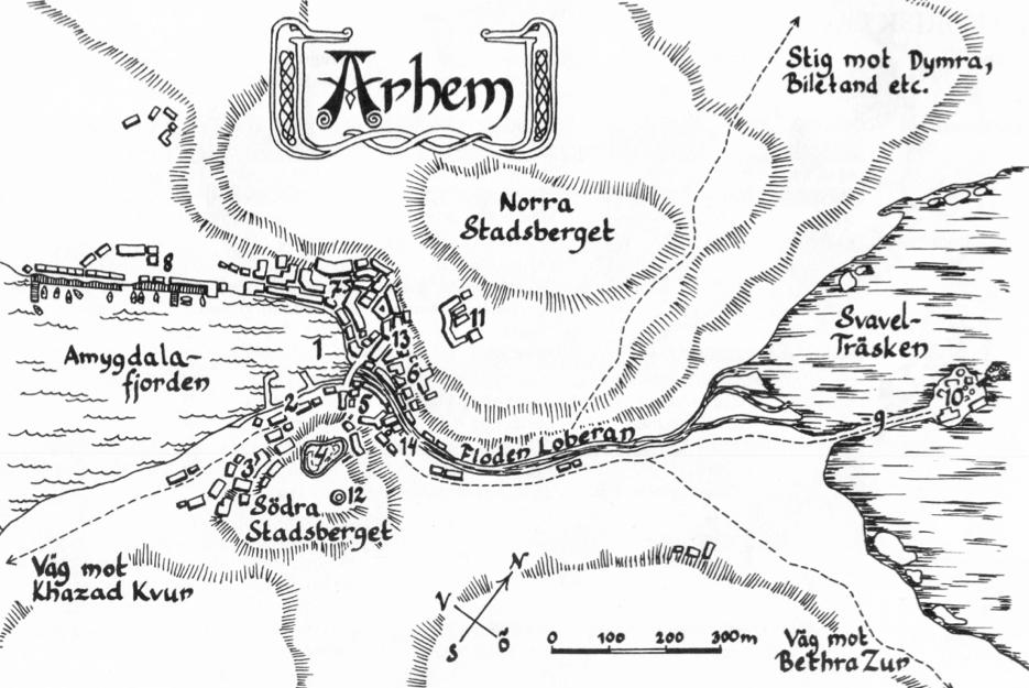Karta över Arhem